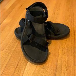 New Black Teva Sandals size 8